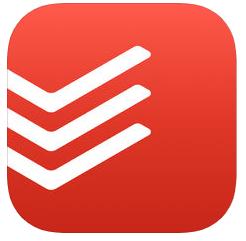 Todoist app logo checklist, organiser, calendar, reminder and habit-forming app
