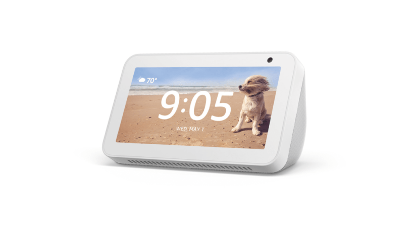 """5"""" echo show device. touchscreen with rounded back"""