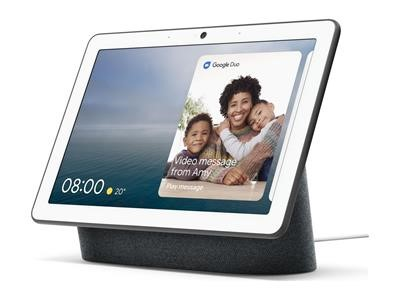"""Nest Hub Max. Like a 10"""" tablet on a stand/base"""