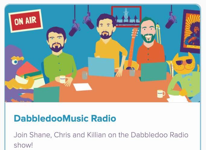 screenshot of dabbledoo radio