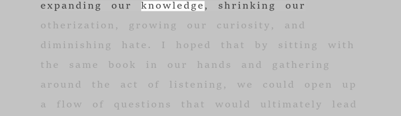 The full Immersive Reader view shows text highlighted with surrounding text grayed out on the page.