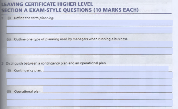 Scanned worksheet consisting of questions with form fields for the answers.