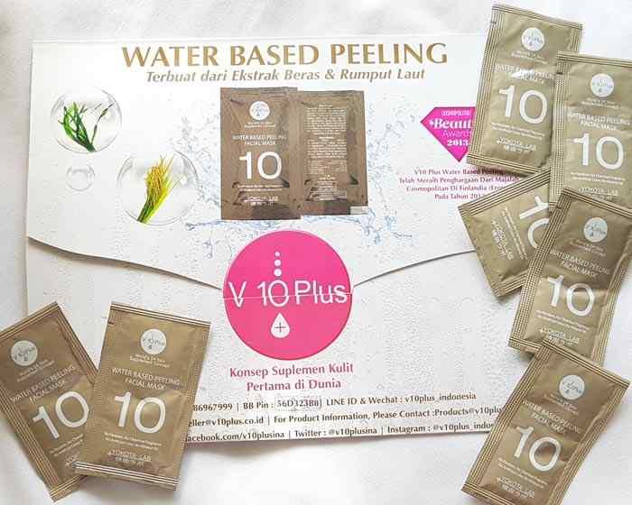 v 10 plus water based peeling
