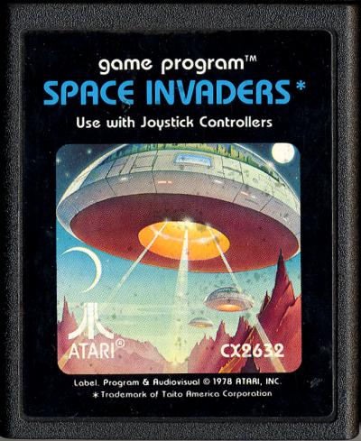 Space Invaders Atari Cartridge