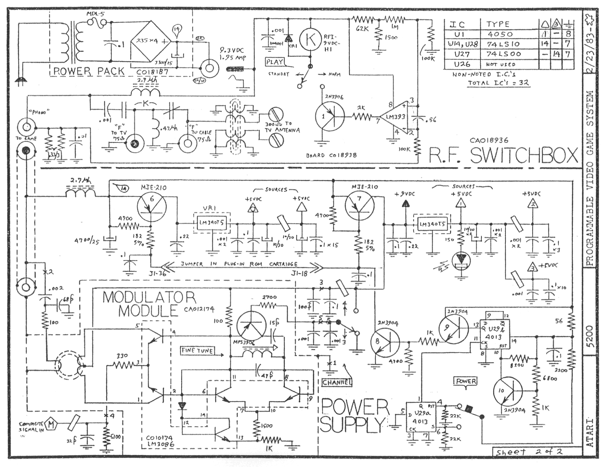 Atari Rf Switchbox Schematic