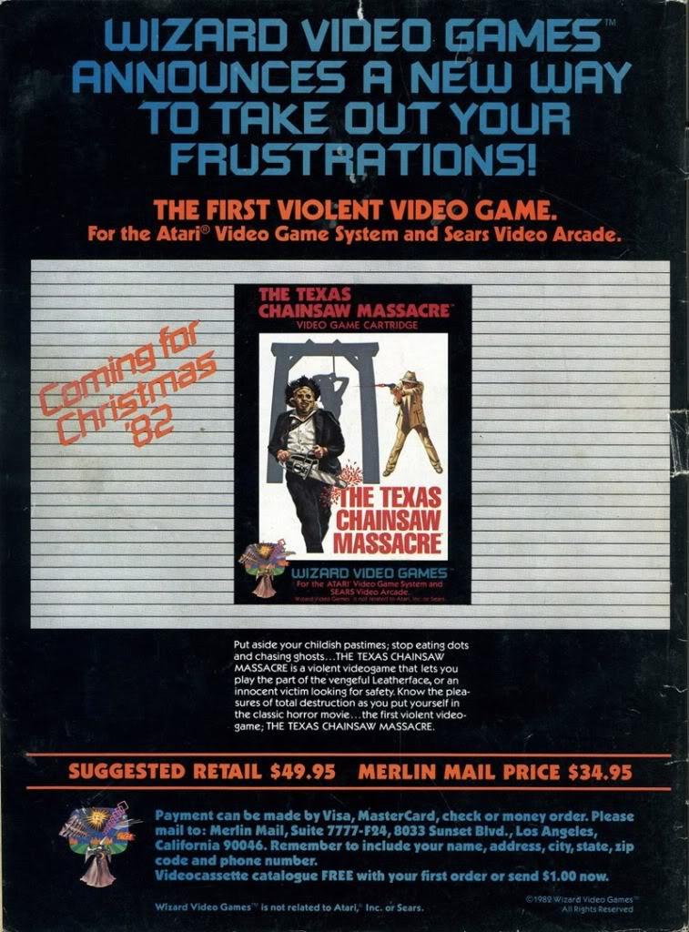 Atari 2600 VCS Texas Chainsaw Massacre The Scans Dump