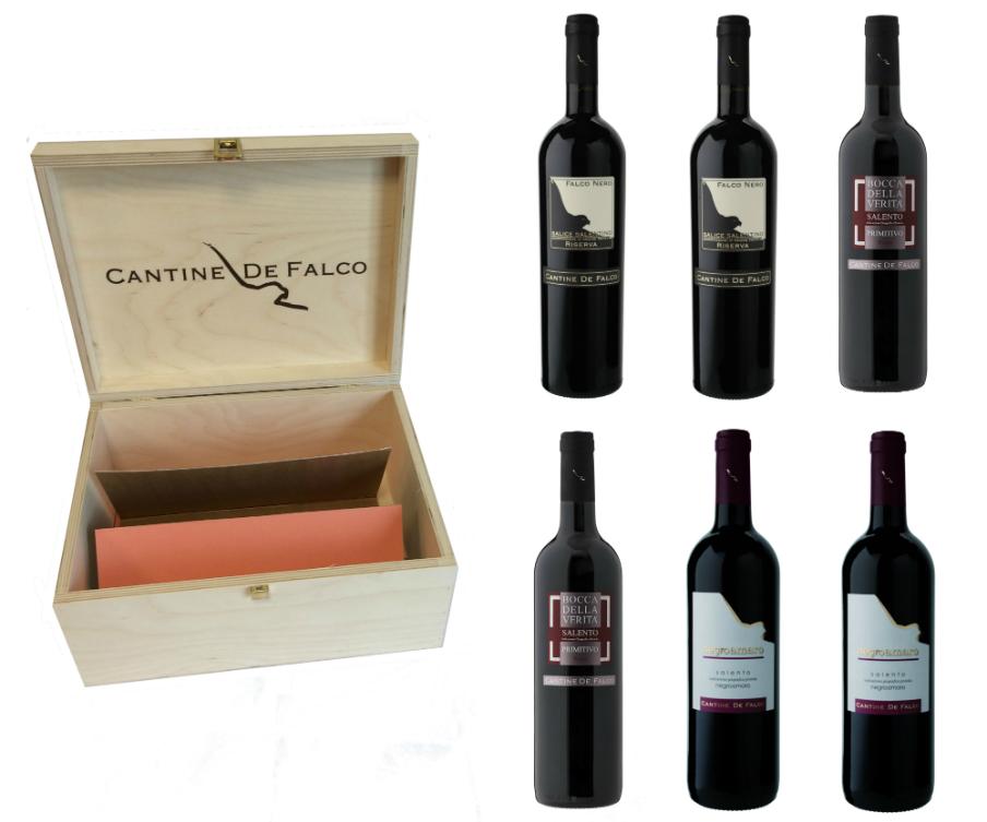 De Falco Wine Wooden Box