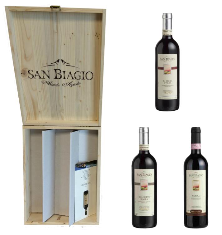 san biagio wine wooden box