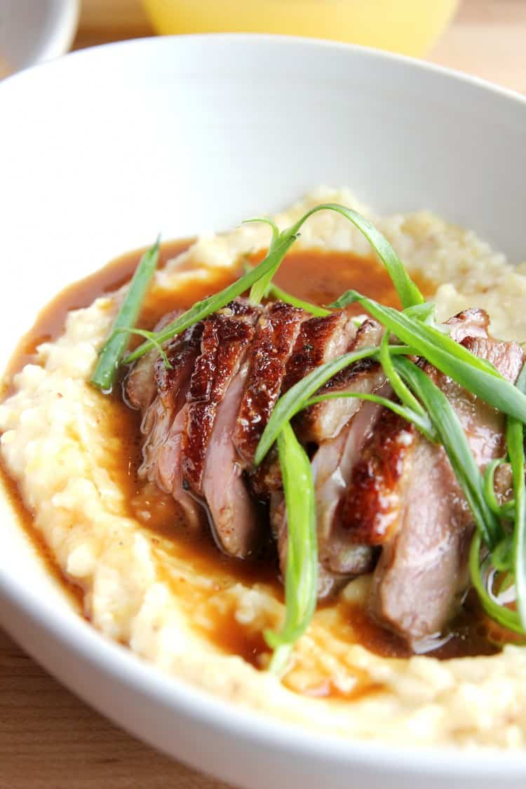 Duck and grits, brunch, Epicerie