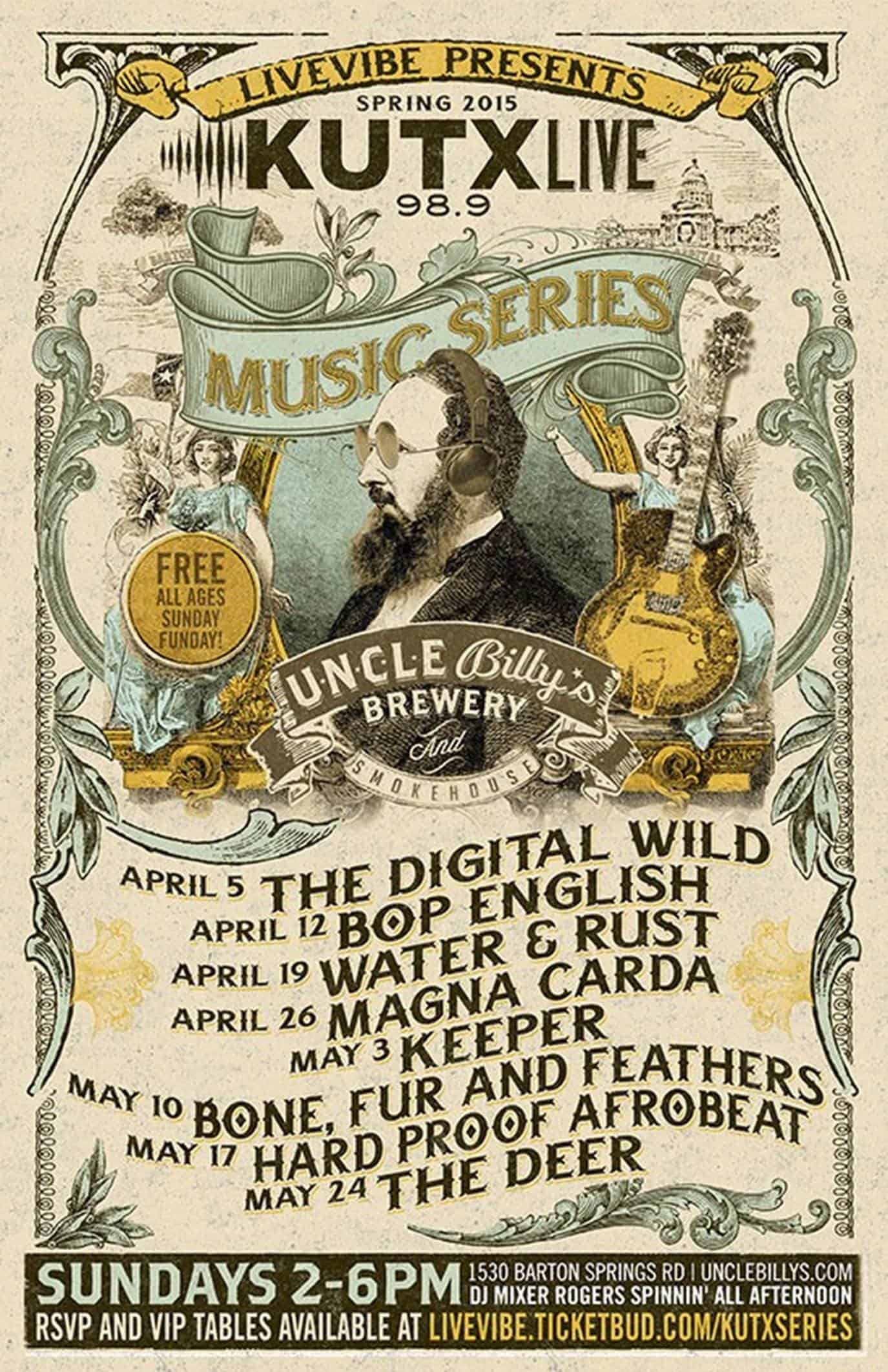 Uncle Billy's KUTX Live Free Music Series