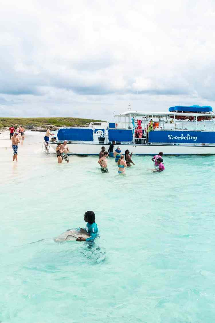 Snorkeling With Stingrays In Grand Turk, Turks and Caicos Islands
