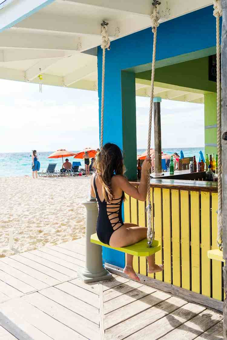 Bar swing in Turks and Caicos