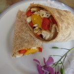 Lime Chicken and Mango Wrap