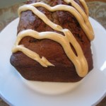 Peanut Butter Banana Bread with Peanut Butter Glaze