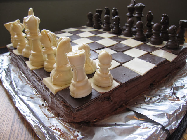 Chess Board Cake