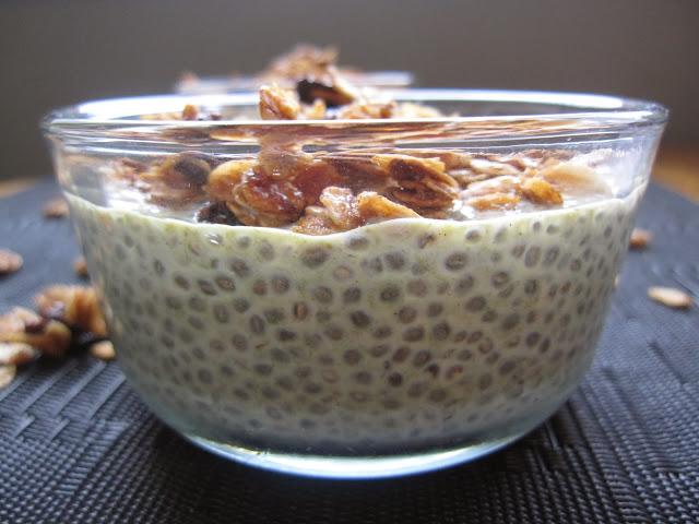 Matcha and Vanilla Chia Seed Pudding