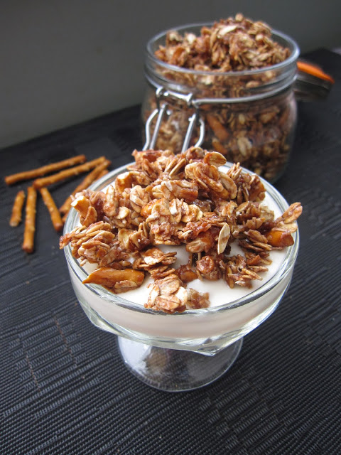 Pretzel and Nutella Granola