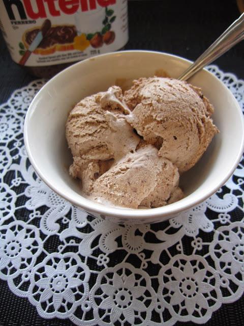 Peanut Butter and Nutella Ice Cream (No Ice Cream Maker Required)