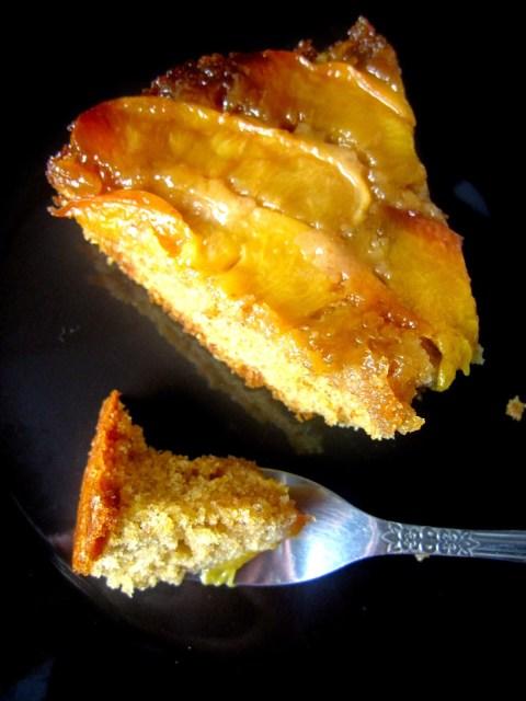 Whole Wheat Nectarine Upside Down Cake