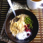 Coconut, Cranberry and Pumpkin Seed Microwave Oatmeal