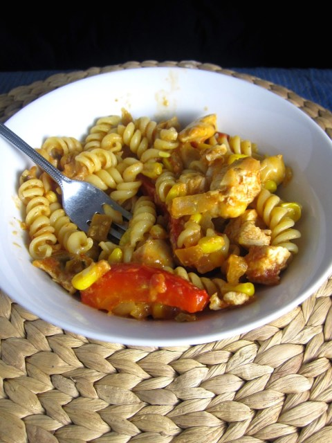 Chicken and Salsa Pasta