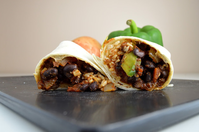 Bean and Rice Burritos