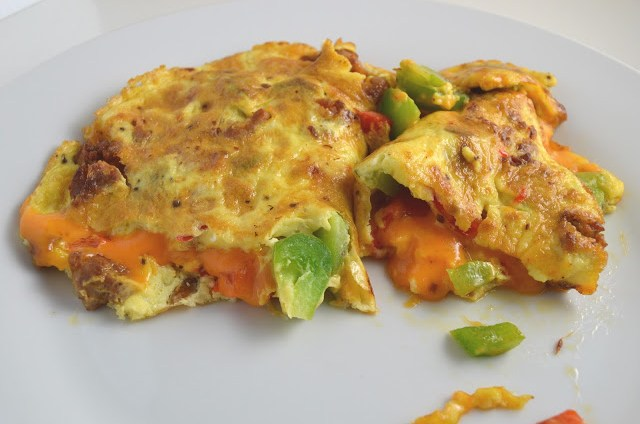 Sausage and Bell Pepper Omelette