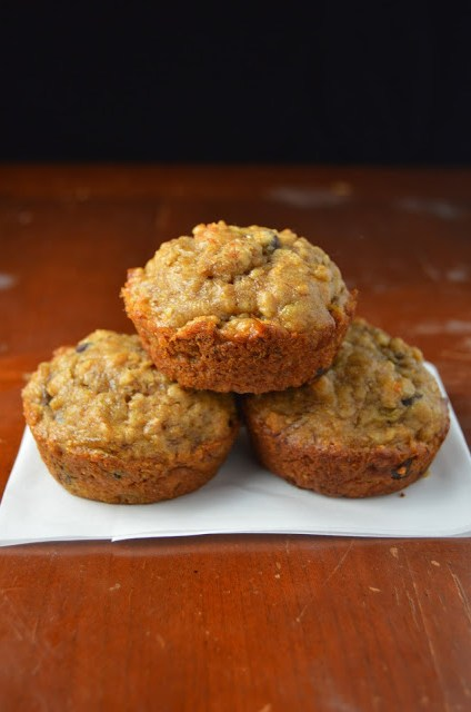 Peanut Butter and Banana Chocolate Chip Muffins