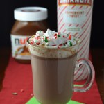 Boozy Peppermint Nutella Hot Chocolate