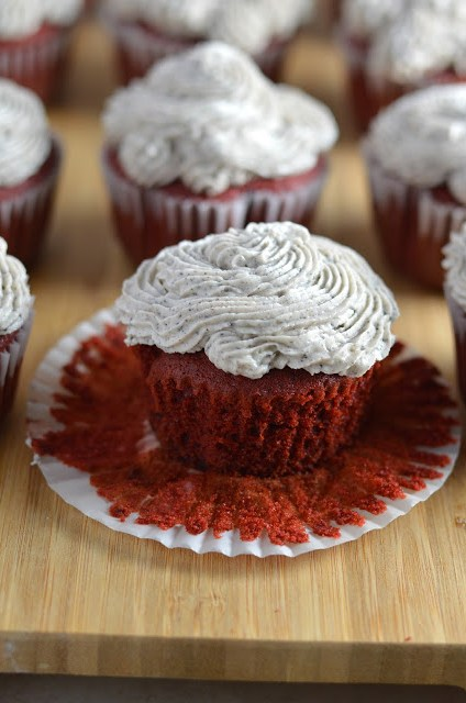 Red Velvet Oreo Cupcakes with Oreo Frosting Recipe