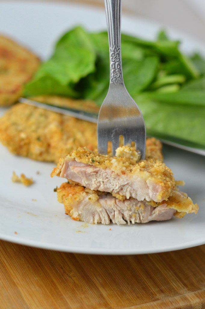 Easy Oven Baked Breaded Pork Chops made with flour, breadcrumbs and Parmesan cheese, this is perfect for a weeknight dinner.