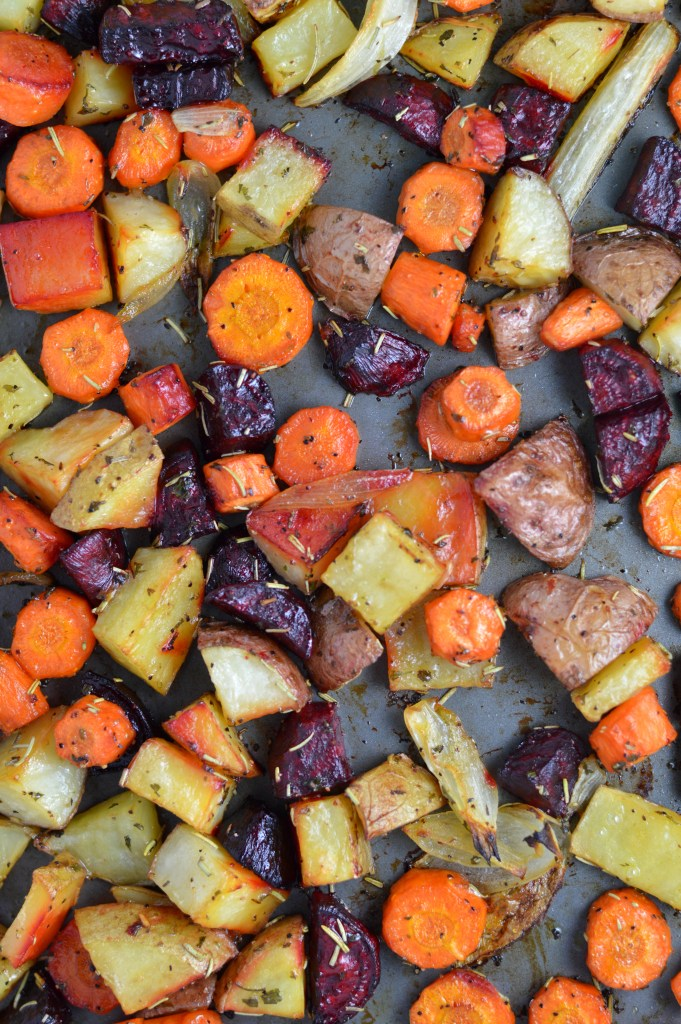Roasted Potatoes Carrots And Beets A Taste Of Madness