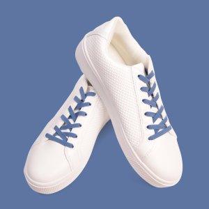 Sea blue elastic laces