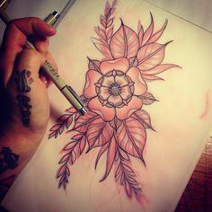 flower tattoo drawing
