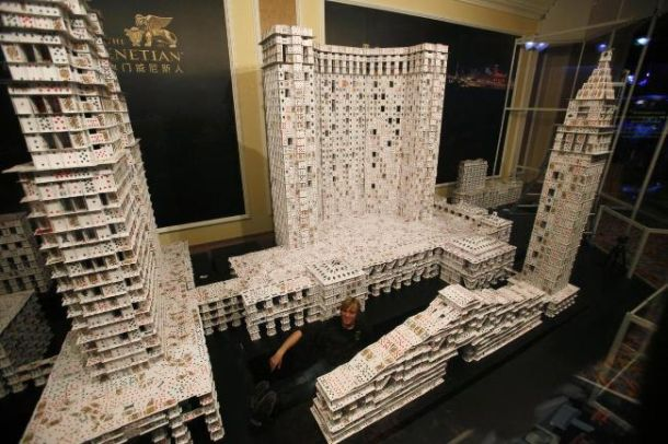 Worlds Largest House Of Cards In 44 Days Using Over