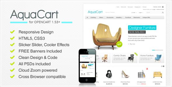 تحميل قالب AquaCart 2.02 مجانا اوبن كارت للمتاجر الإلكترونية
