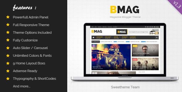 تحميل قالب BMAG 1.3 مجانا للمدونات البلوجر
