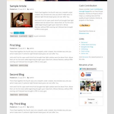 تحميل قالب Multipurpose مجانا للمدونات دروبال