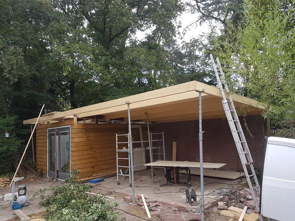 veranda in opbouw