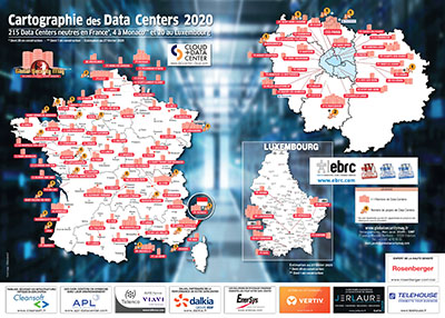 Cartographie datacenters France Monaco Luxembourg 2020