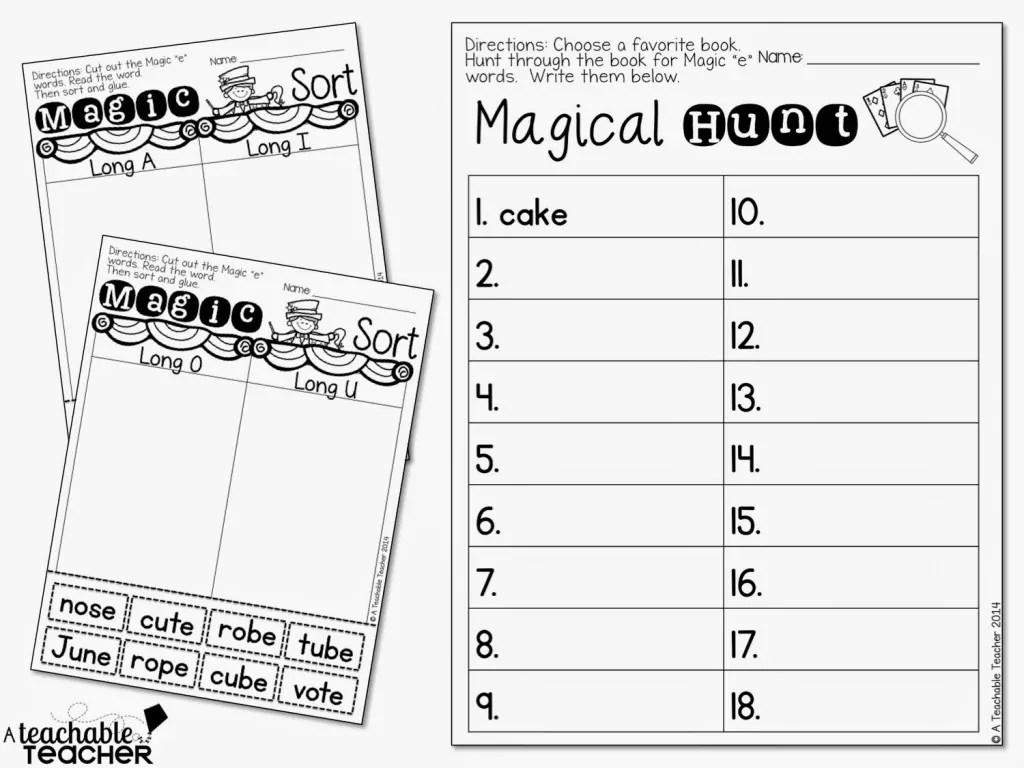 Teaching Cvce With Magic E