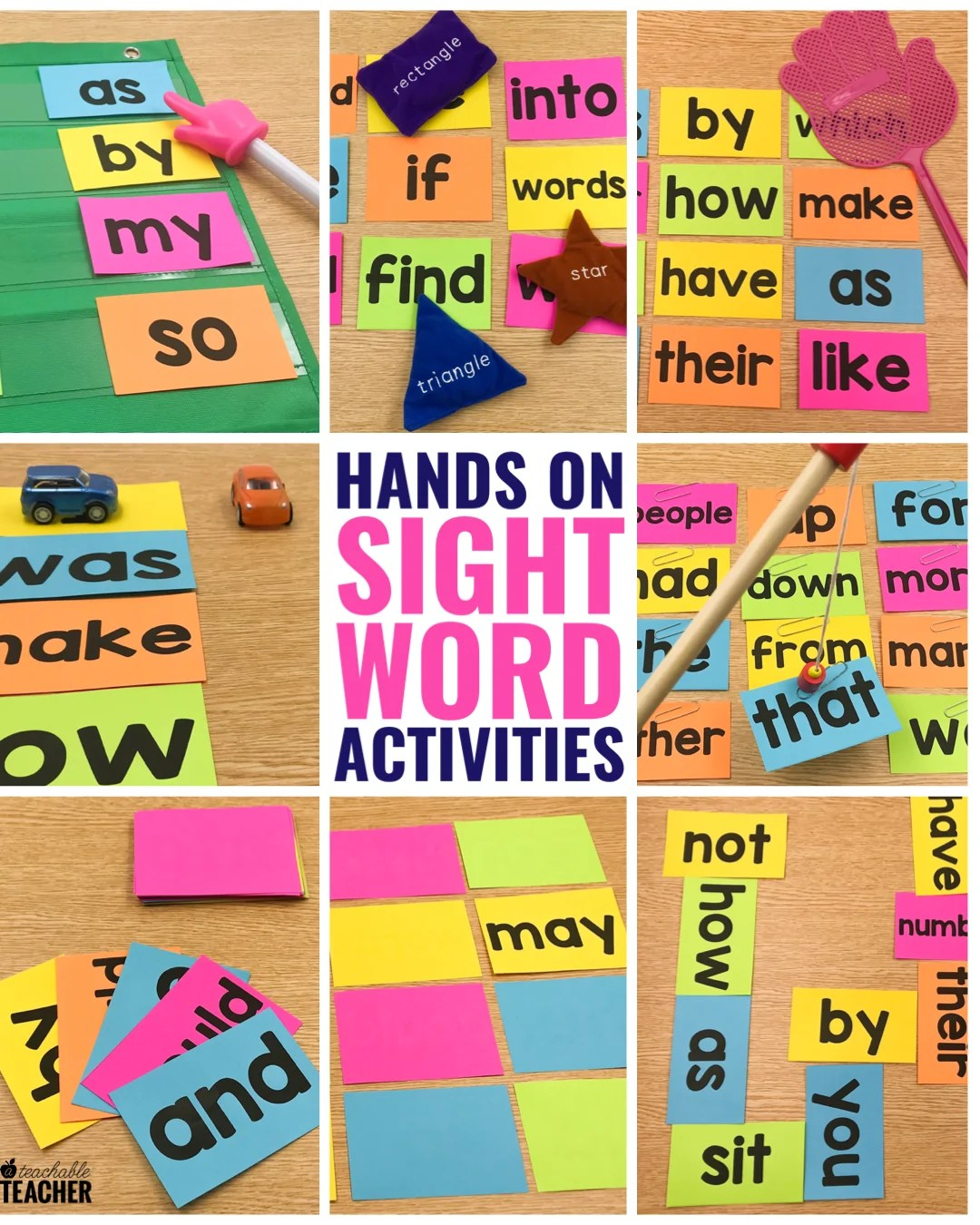 10 Hands On Sight Word Activities That Your Students Will