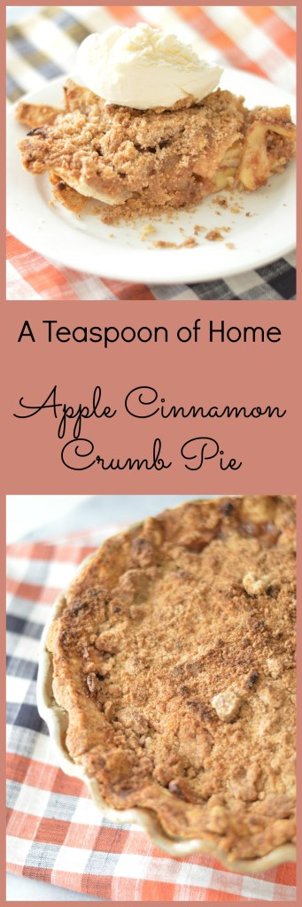 Apple Cinnamon Crumb Pie