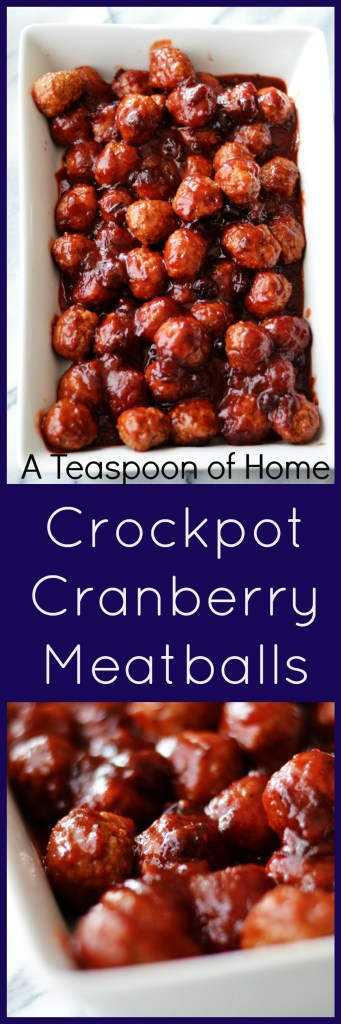 Crockpot Cranberry Meatballs by A Teaspoon of Home