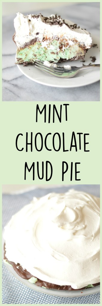 Mint Chocolate Mud Pie by A Teaspoon of Home