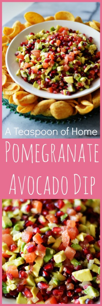 Pomegranate Avocado Dip by A Teaspoon of Home