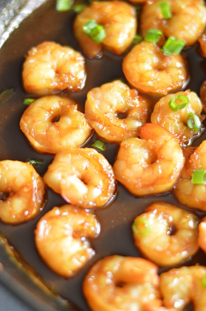 Quick and Easy Honey Garlic Shrimp by A Teaspoon of Home