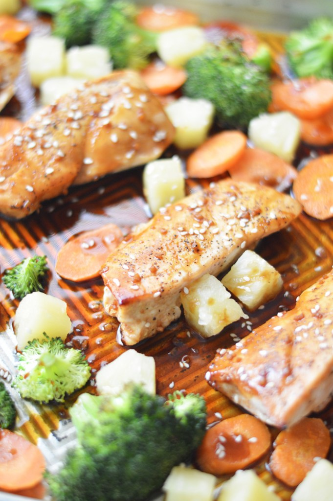 One Pan Chicken Teriyaki with Vegetables by A Teaspoon of Home