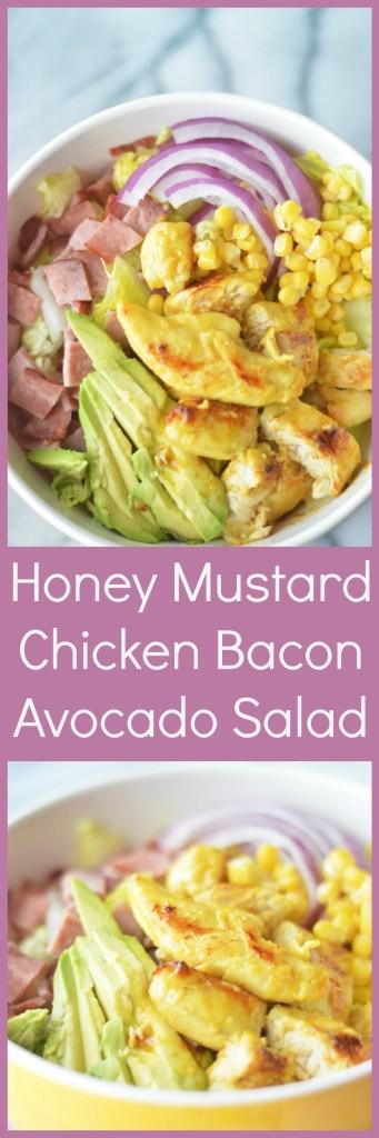 Honey Mustard Chicken Bacon Avocado Salad by A Teaspoon of Home