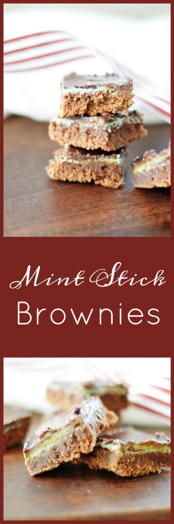Mint Stick Brownies by A Teaspoon of Home